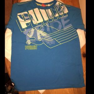 BOYS PUMA PRIDE T SHIRT LARGE